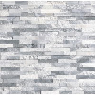 Alaska Multi Ledger Panel 6 in. x 24 in. Natural Marble Wall Tile (6 sq. ft./Case)