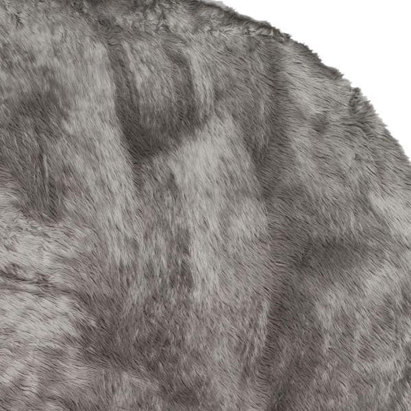 Safavieh Faux Sheep Skin Grey 2 Ft X 3 Ft Area Rug Fss115d 2 The Home Depot