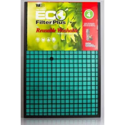 20  x 20  x 1  Eco Plus Washable FPR 4 Air Filter