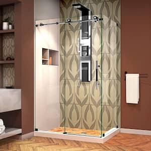 Enigma-XT 44 3/8 to 48 3/8 in. x 76 in. Frameless Sliding Corner Shower Enclosure in Tuxedo