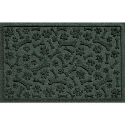Paws and Bones 17.5 in. x 26.5 in. Evergreen PET Polyester Mat