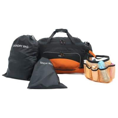 Travelers Club 24 in. Multi-Pocket Upright Rolling Duffel Bag Collection