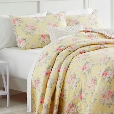 Melany Ruffled Cotton Quilt Set