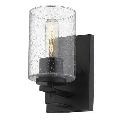 Orella 1-Light Matte Black Sconce