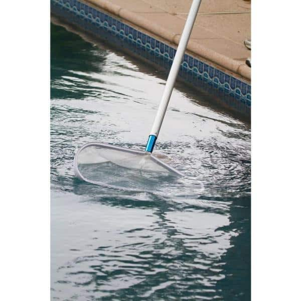 Hdx Heavy Duty Aluminum Leaf Rake For Swimming Pools And Spas 61298 The Home Depot