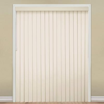 3.5 in. W x 84 in. L Smooth Ivory 3.5 Vertical Blind/Louver Set
