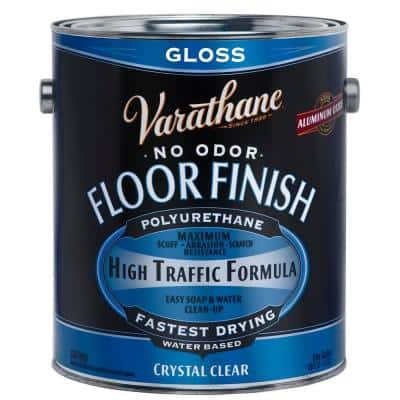 1 gal. Clear Gloss Water-Based Floor Polyurethane (2-Pack)