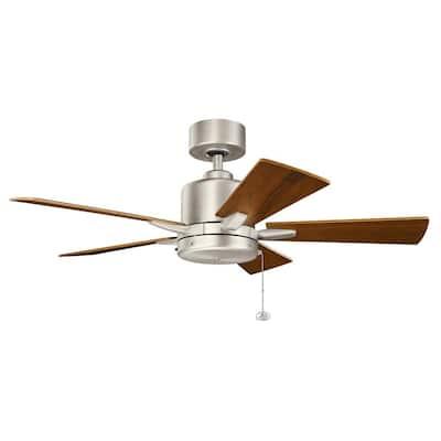 Bowen 42 in. Indoor Brushed Nickel Downrod Mount Ceiling Fan