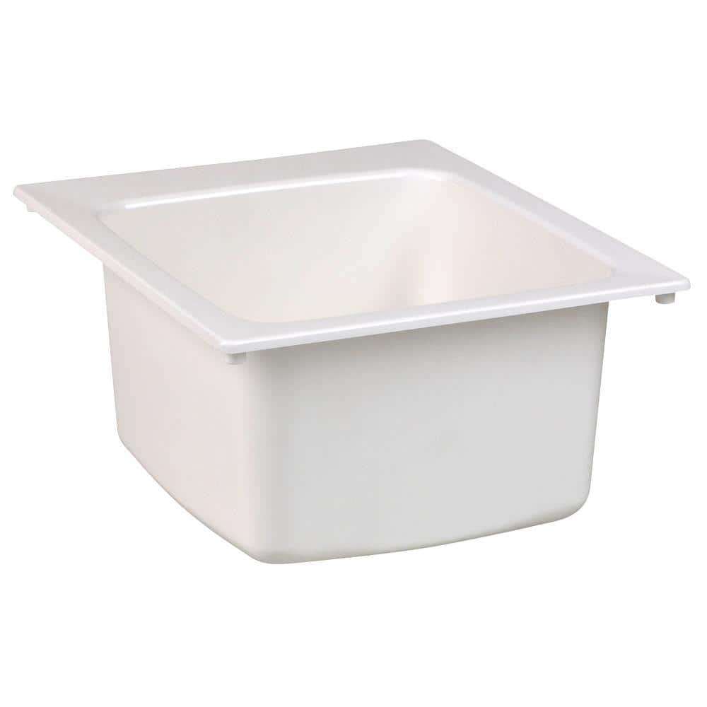 mustee 17 in x 20 in fiberglass self rimming utility sink in white 11 the home depot