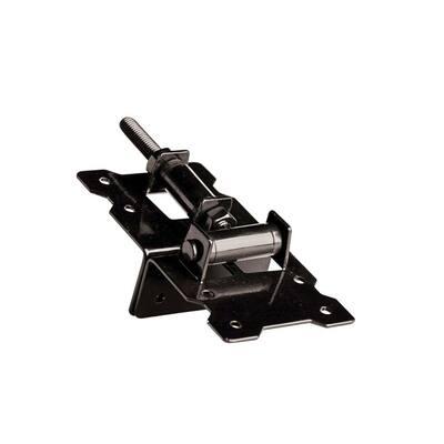 Black Steel Self Closing Corner Hinge (2-Pack)