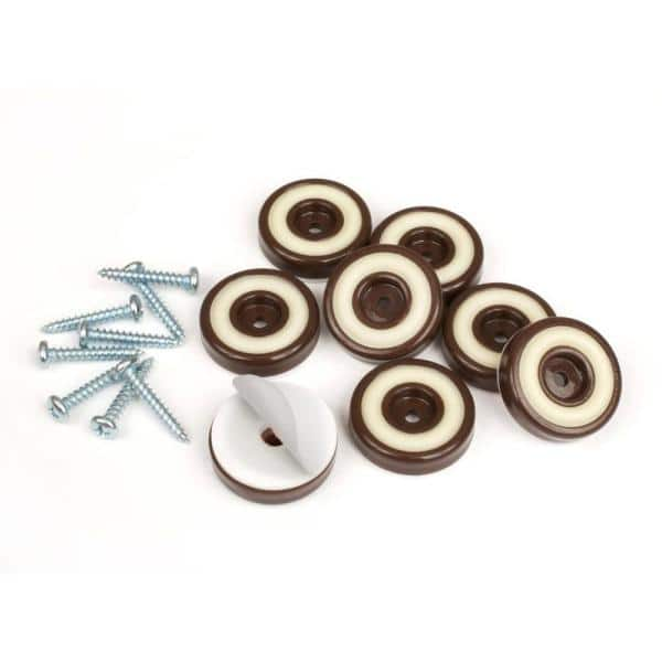 Slipstick 1 4 In Round Chocolate, Rubber Feet For Outdoor Furniture Home Depot