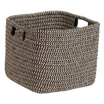 Carter Black 12 in. x 12 in. x 10 in. Square Polypropylene Braided Basket