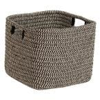 Carter Black 14 in. x 14 in. x 12 in. Square Polypropylene Braided Basket