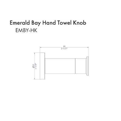 ZLINE Emerald Bay Towel Hook in Polish Gold (EMBY-HK-PG)