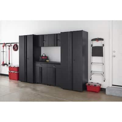 6-Piece Regular Duty Welded Steel Garage Storage System in Black (109 in. W x 75 in. H x 19 in. D)
