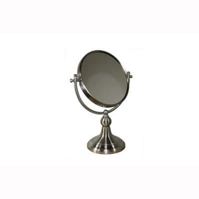 5.5 in. x 14 in. Free Standing Round X5 Magnify Makeup Mirror