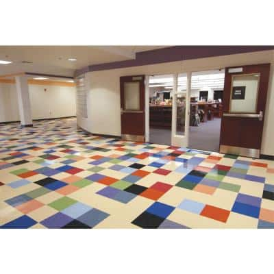 Imperial Texture VCT 12 in. x 12 in. Blueberry Standard Excelon Commercial Vinyl Tile (45 sq. ft. / case)