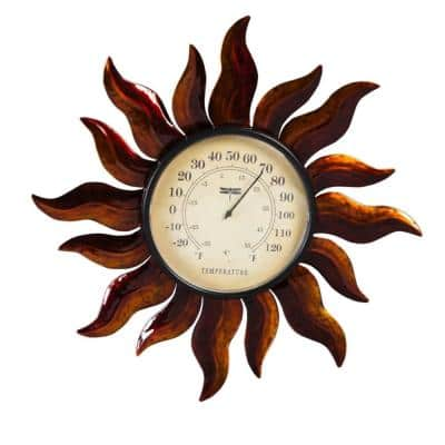 Sun Outdoor Wall Thermometer