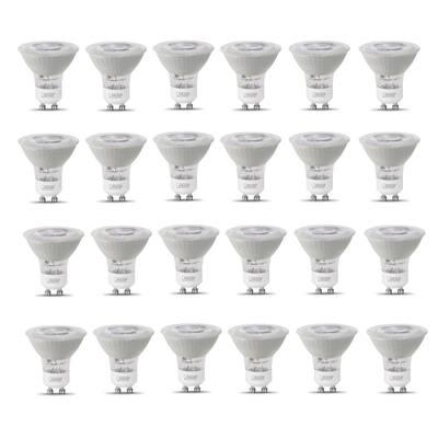 50-Watt Equivalent MR16 GU10 Dimmable Track Lighting 90+ CRI Frosted Flood LED Light Bulb, Bright White (24-Pack)