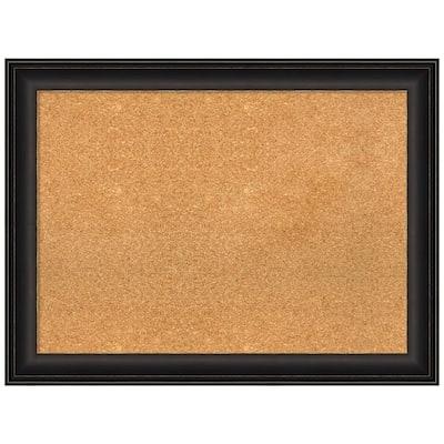 Trio Oil Rubbed Bronze 32.50 in. x 24.50 in. Framed Corkboard Memo Board