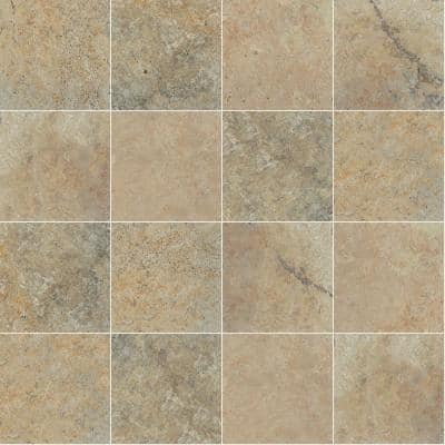 Take Home Tile Sample - Tuscany Scabas 6 in. x 6 in. Tumbled Travertine Paver Tile (0.25 sq. ft.)