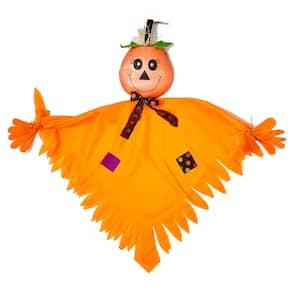 43 in. Shiny Hanging Halloween Pumpkin Figure (Set of 2)