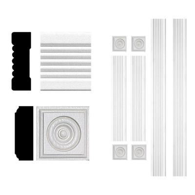 3/4 in. x 2-1/4 in. x 6 ft. MDF Fluted Window Casing Moulding Set