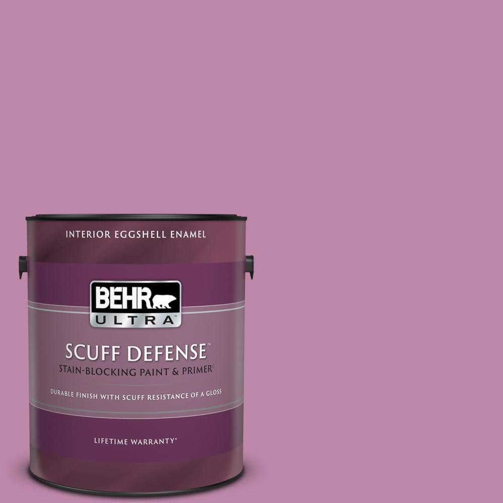 Behr Ultra 1 Gal M120 5 Rosy Extra Durable Eggshell Enamel Interior Paint Primer 275401 The Home Depot