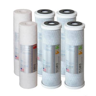 Ultimate 10 in. Super Capacity 3-Stage Replacement Pre-Filter Set (Bundle of 2 Sets)