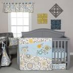 Waverly Pom Pom Spa 4-Piece Multicolored Floral Polyester Crib Bedding Set