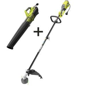 18 in. 10 Amp Electric Corded String Trimmer and 8 Amp Jet Fan Blower Kit