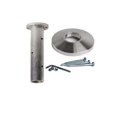 Stainless Steel 17.2.3 Newel Mounting Kit 3.3 in. x 2 in. for 1-3/16 in. Round Newel Posts for Stair Remodeling