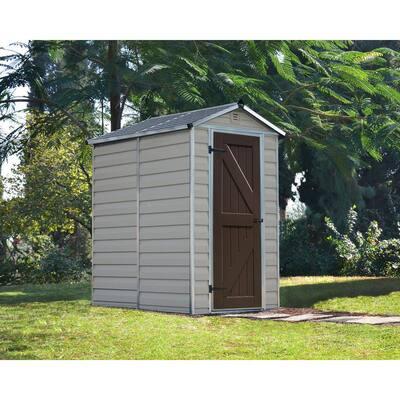 SkyLight 4 ft. x 6 ft. Tan Storage Shed