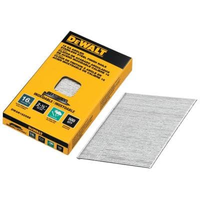 2-1/2 in. x 16-Gauge Stainless Steel Glue Collated Finish Nail