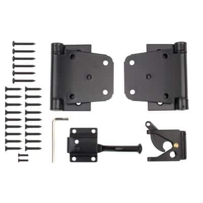 Black Self-Closing Gate Kit