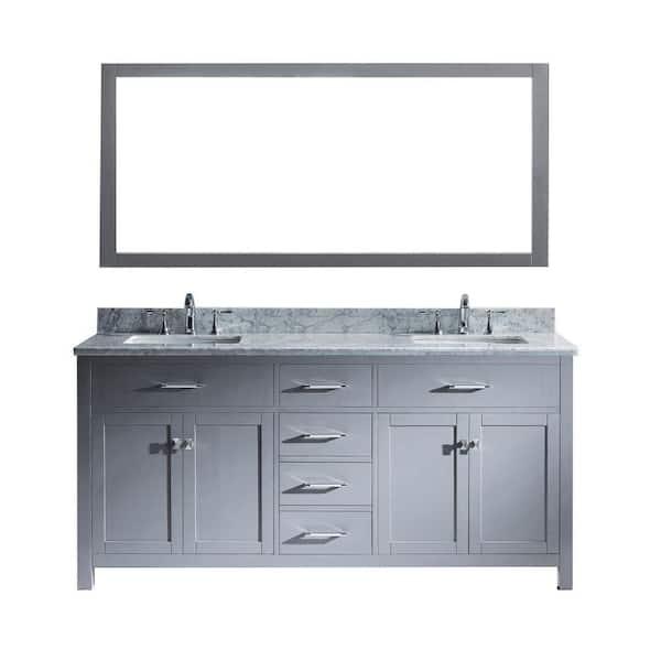 Virtu Usa Ine 72 In W Bath Vanity, Virtu Bathroom Vanities