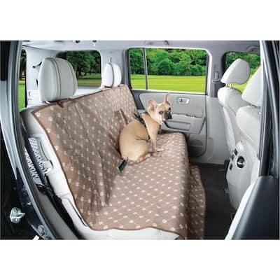Brown/White Waterproof Paw Print Theme Car Seat Furniture Cover