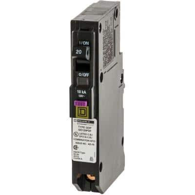 QO 20 Amp Single-Pole Plug-On Neutral Dual Function (CAFCI and GFCI) Circuit Breaker (9-pack)