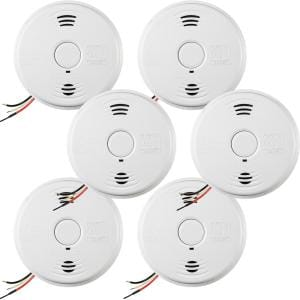 10-Year Worry Free Smoke & Carbon Monoxide Detector, Hardwired with Battery Backup & Voice Alarm, Fire Alarm, 6-Pack