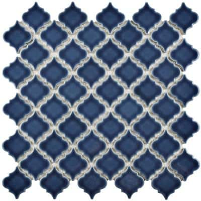 Hudson Tangier Denim Blue 12 in. x 12 in. Porcelain Mos (10.96 sq. ft. / Case)