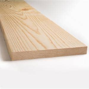 1 in. x 8 in. x 8 ft. Kiln Dried Square Edge Whitewood