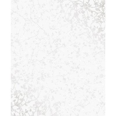 Palatine Silver Leaves Wallpaper Silver Wallpaper Sample