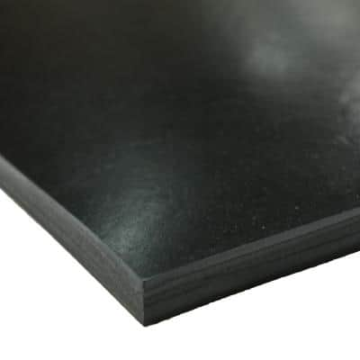 EPDM Rubber Sheet - 3/8 in. Thick x 4 in. Width x 36 in. Length - Black - 60A Durometer