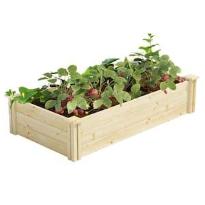 2 ft. x 4 ft. x 10.5 in. Original Pine Raised Garden Bed