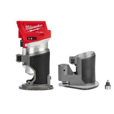 M18 FUEL 18-Volt Lithium-Ion Brushless Cordless Compact Router w/ Compact Router Offset Base