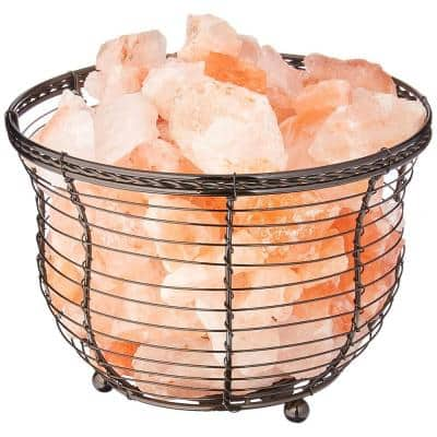6.75 in. Ionic Crystal Natural Salt 9-11 lbs. Tall Basket Lamp