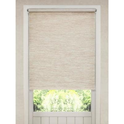 Cut-to-Size Tan Cordless Light Filtering Roller Shades 16 in. W x 72 in. L