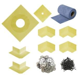 Durabase 10''X10''X0.1'' WP Complete Waterproofing Sealing Kit for Shower and Backer Board Underlayment