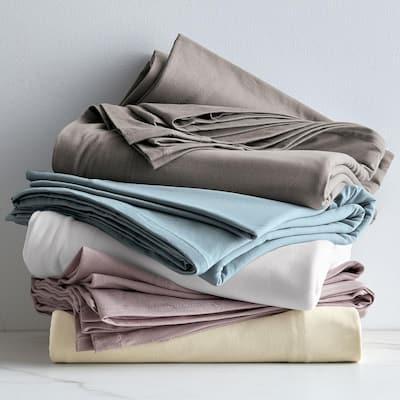 Organic Cotton Jersey Knit Fitted Sheet