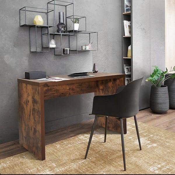 sumyeg Lmai 21.7 in. Rectangular Dark Wood Writing Desk Computer
